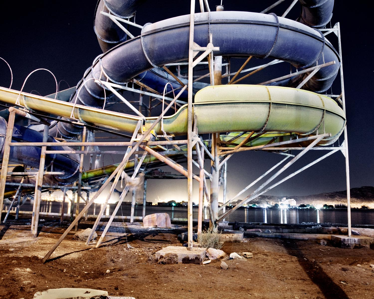An abandoned water park on the Gulf of Aden. September 2010.