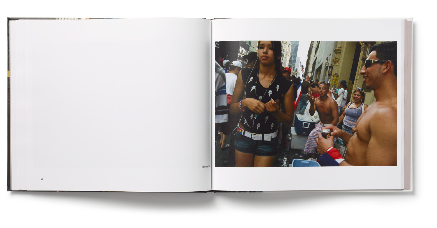 An inside spread from Dimitri Mellos' book Its Strangest Patterns: Photographs of New York.
