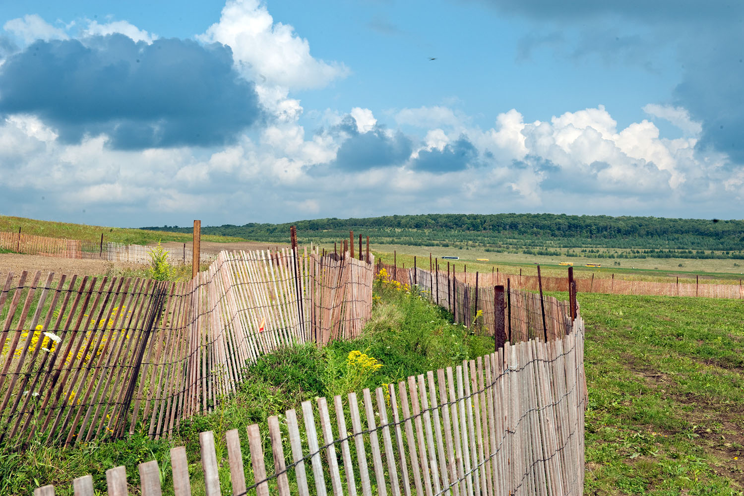 A view of the field where United Flight 93 crashed on 9/11 in Shanksville, Pa., Sept. 10, 2011.