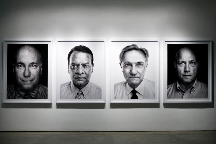 The four survivors of stairway A (from left) Richard Fern, Stanley Praimnath, Brian Clark and Ron DiFrancesco at TIME's Beyond 9/11: Portraits of Resilience exhibition at Milk Gallery in New York City.