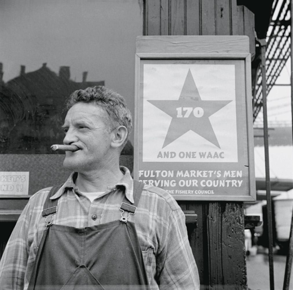 A Fulton Fish Market hooker in New York City, May 1943.
