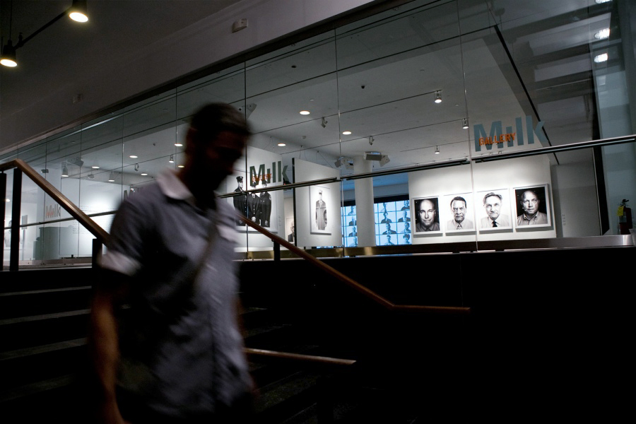 Installation photo of TIME's Beyond 9/11: Portraits of Resilience exhibition at Milk Gallery in New York City, on view until October 7, 2011.