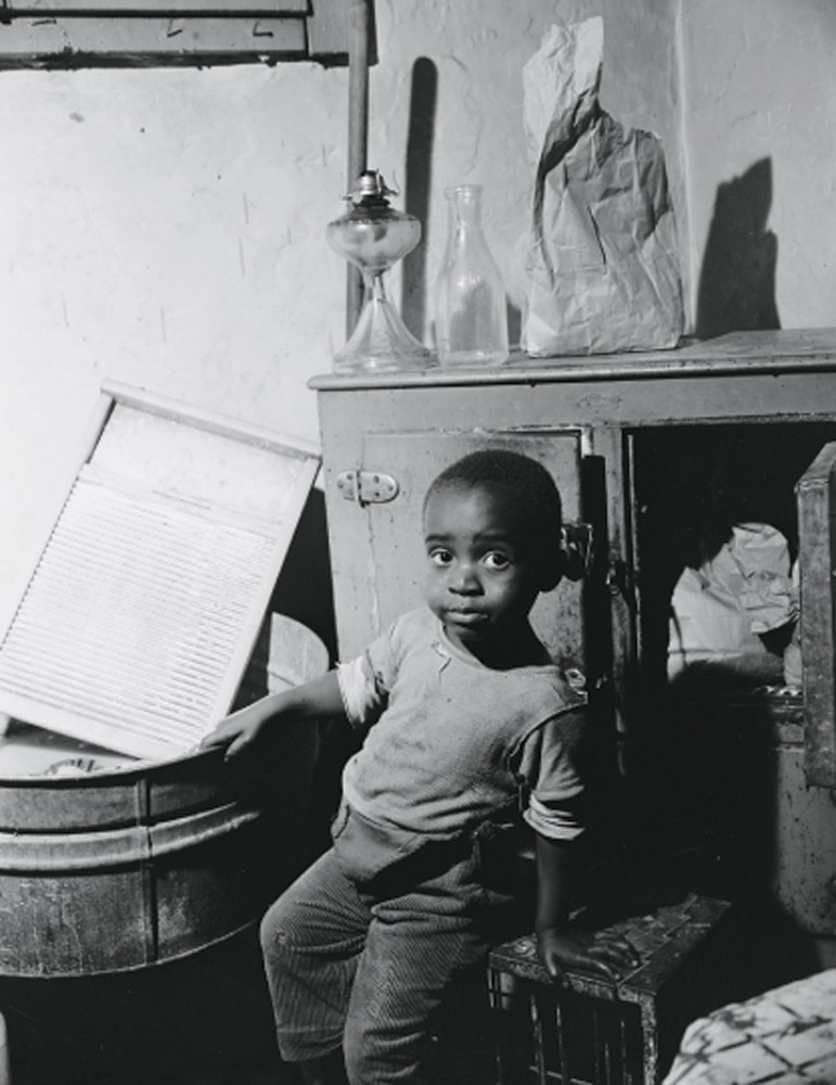 A young boy in Washington, D.C., June 1942.
