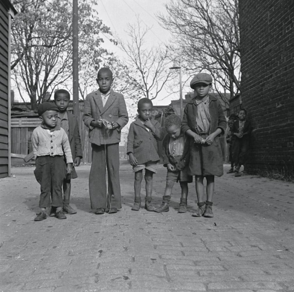 Neighborhood children in Washington, D.C., November 1942.