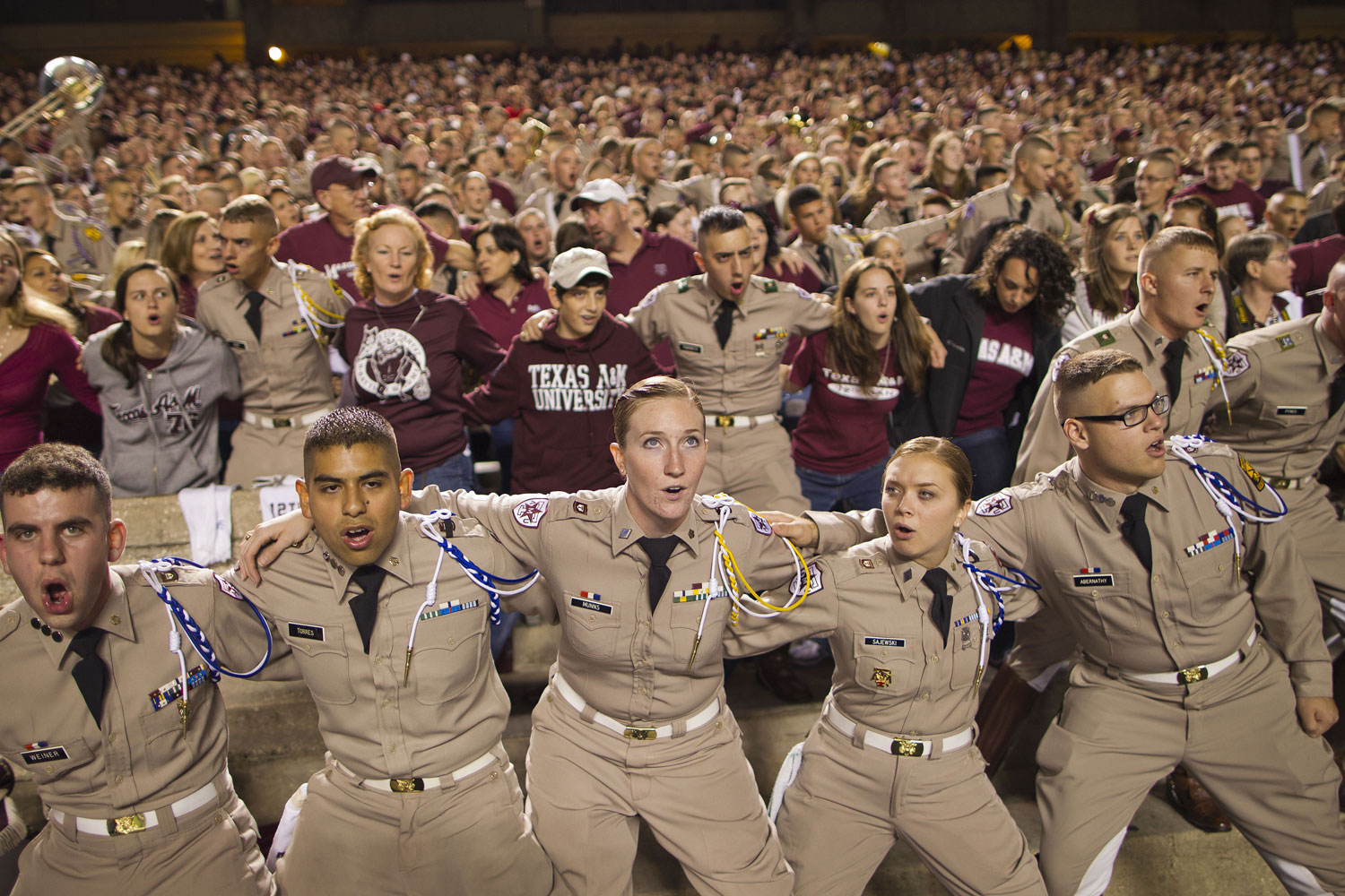 Texas A&M fans cheer on their team during a November 2010 game against Nebraska in College Station.