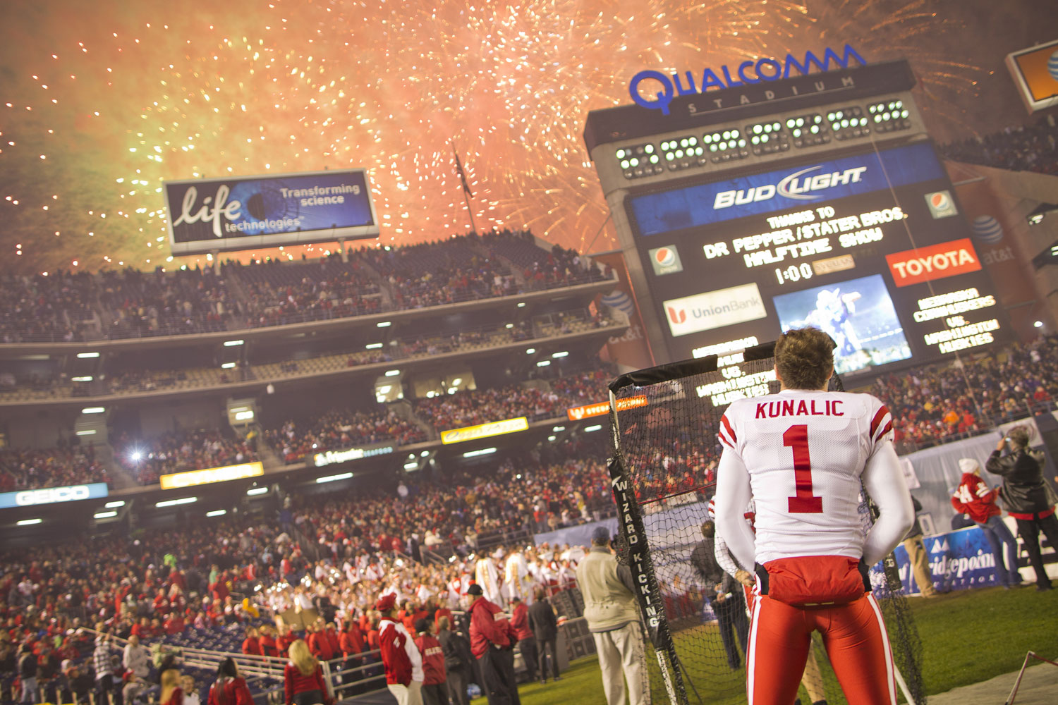 A parting shot of the Holiday Bowl game against Washington in December 2010.