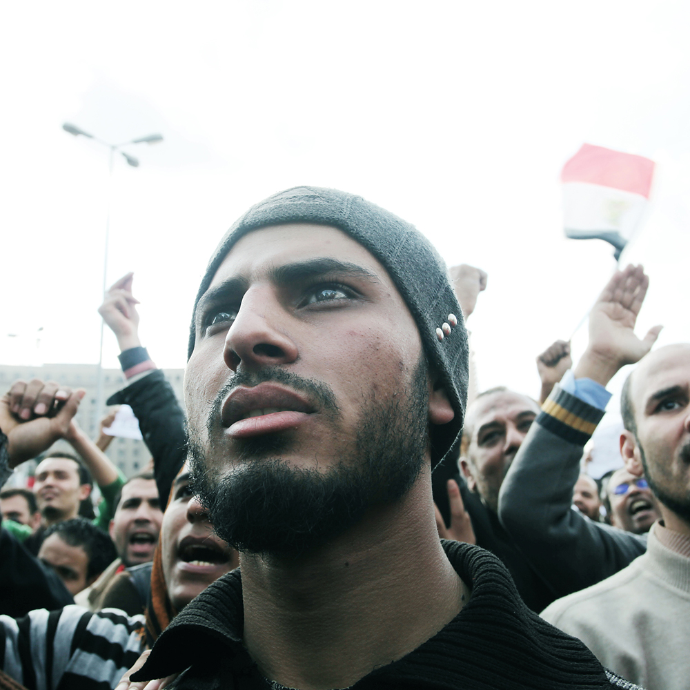 Protesters in Tahrir Square on Jan. 30, 2011.