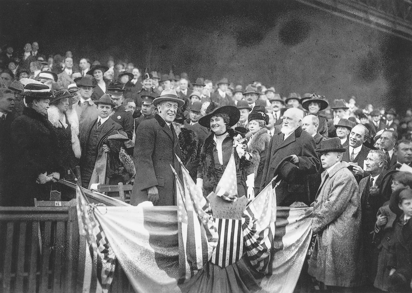 Woodrow Wilson, Baker Bowl, Philadelphia, October 9, 1915.