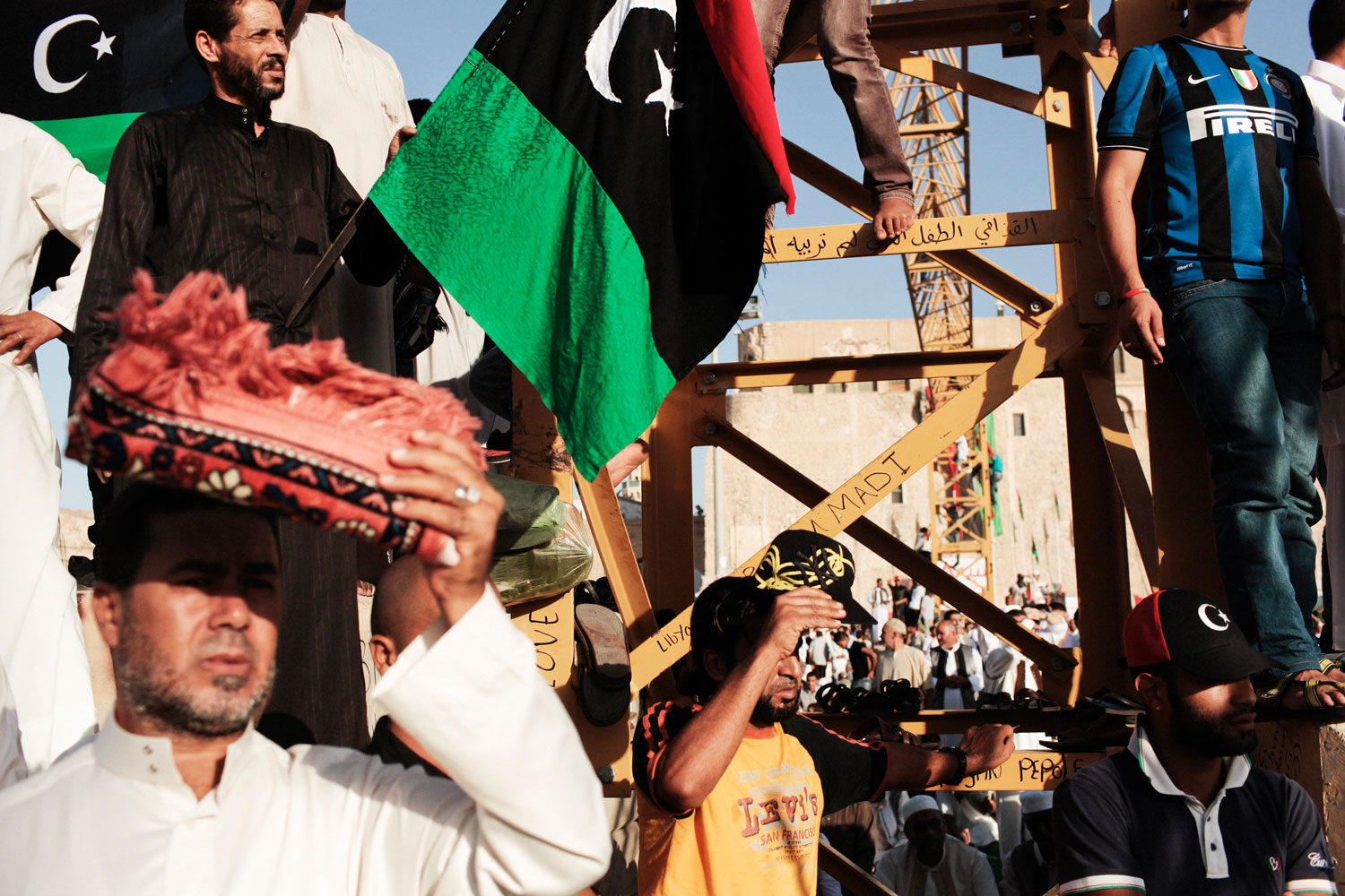 Aug. 31, 2011. Libyans gather for an Eid Al-Fitr holiday celebration in Tripoli's Martyrs' Square, formerly known as Green Square, in Libya.