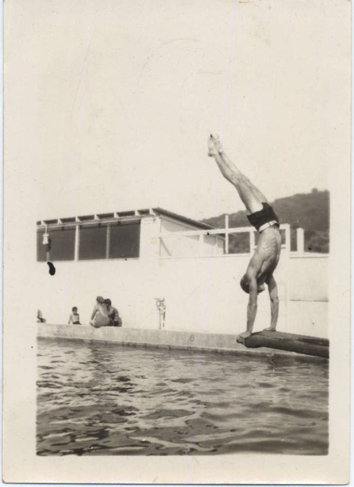 Self-Portrait (Handstand Dive). c. 1935