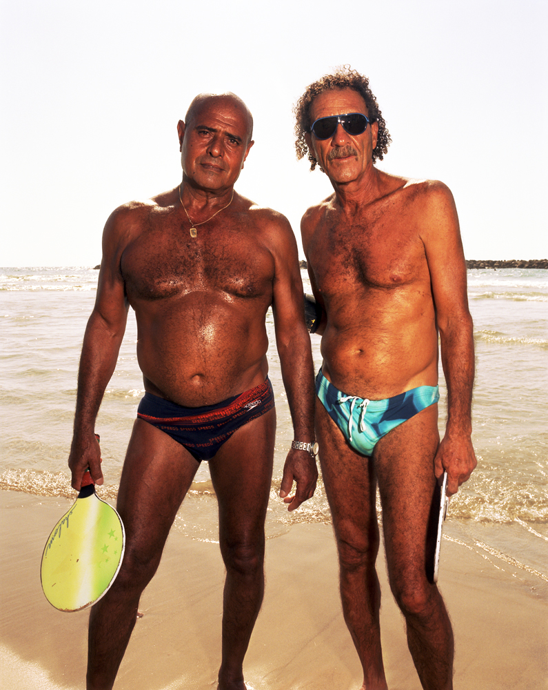 Oded and Michael play matkot—the Israeli form of beach tennis—almost daily on the beach.