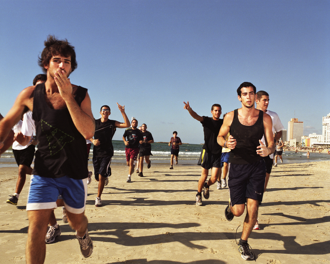 Israeli teenage boys get in shape as part their pre-military training.