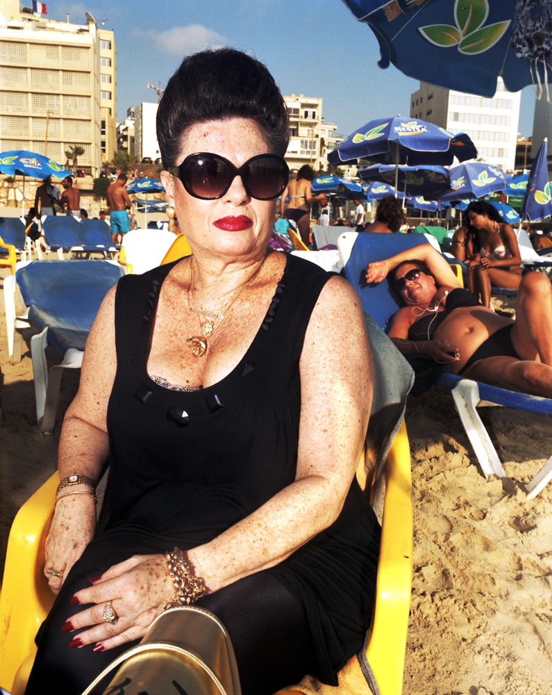 Amalia, 62, has been coming to the Tel Aviv beach her entire life.