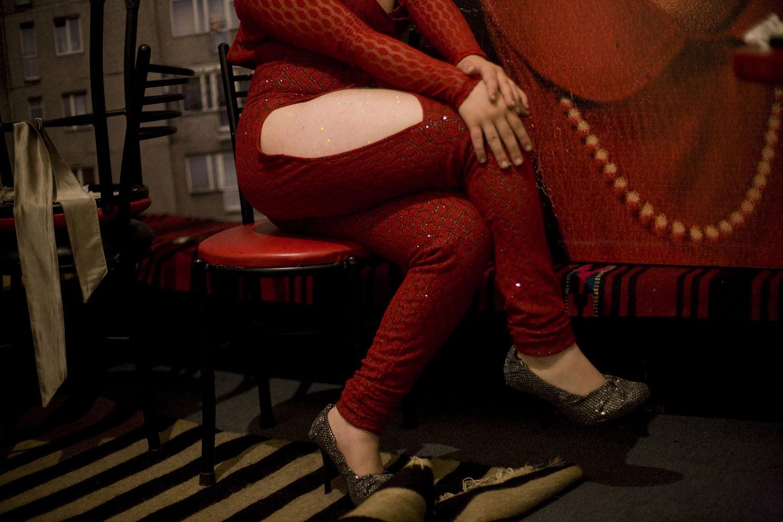 Laura Boushnak's recent work focuses on the LGBT community in Beirut, Lebanon. Here, Pamela waits backstage before a drag show in April 2010.
