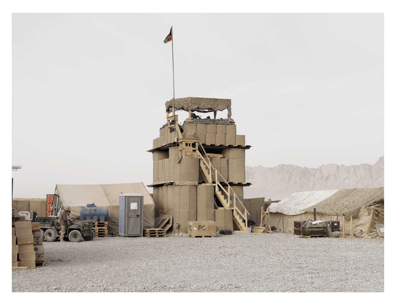 Watchtower. COP Folad. Kandahar Province. Afghanistan, 2011.