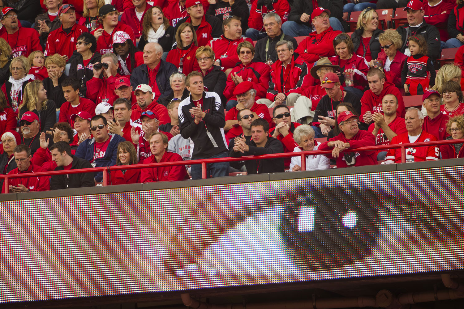 The eye of Huskers halfback Roy Helu Jr. looks out across Memorial Stadium while he rushed for a team record of 307 yards against Missouri in October 2010.