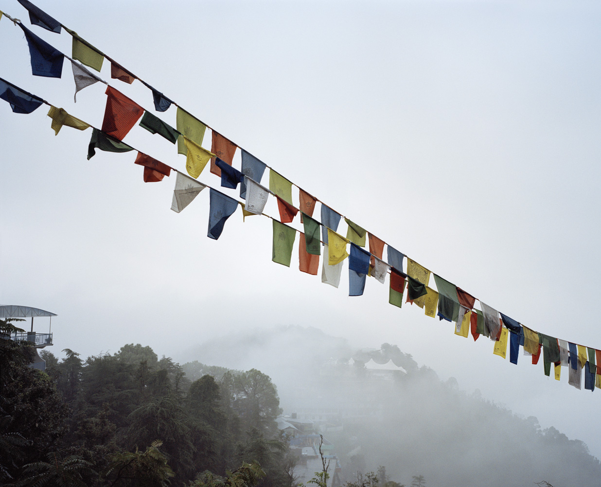 A view of the Namgyal Monastery in upper Dharamsala, near the residence of the Dalai Lama.