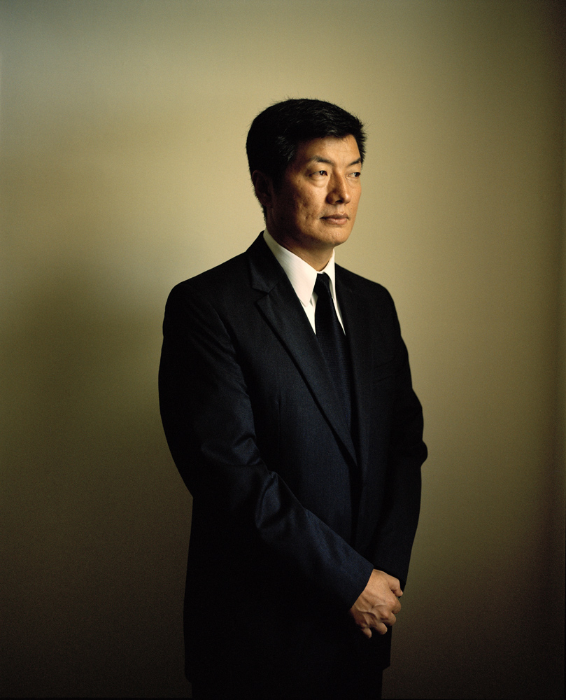 Lobsang Sangay, the newly-elected Prime Minister of the Tibetan government in exile. A Harvard law school graduate, Lobsang Sangay replaced Samdhong Rinpoche as Kalon Tripa in 2011.