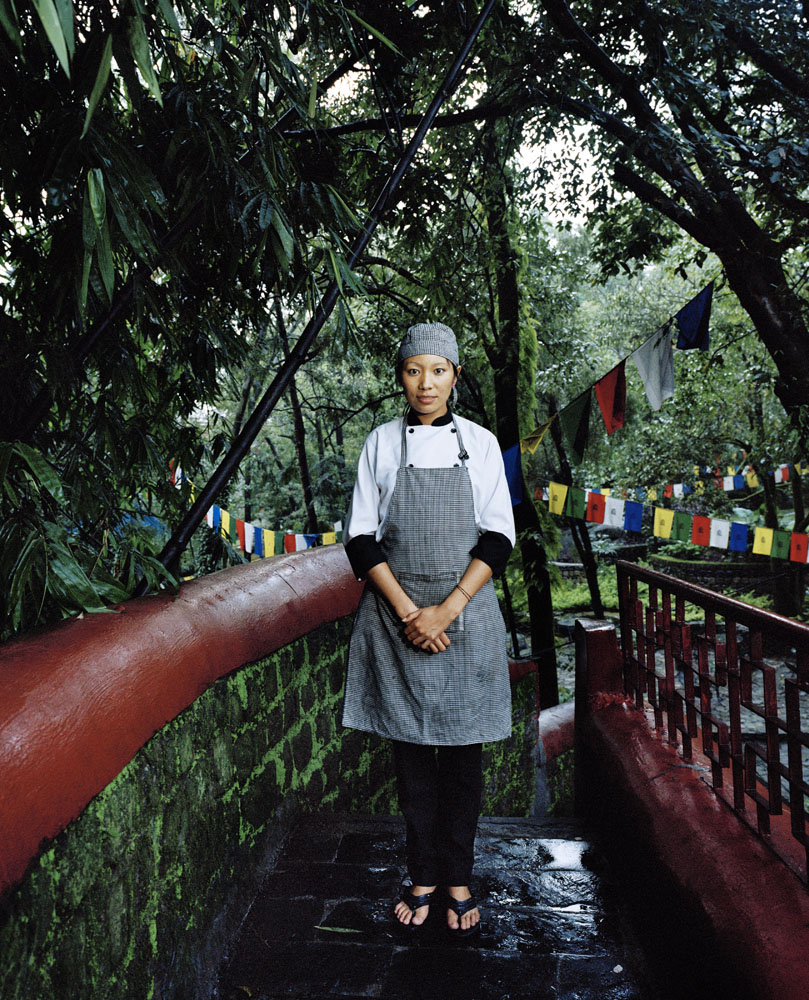 Pema Wamo, 25, is a chef, originally from Chamdo, Tibet. She arrived in Dharamsala in 2005.