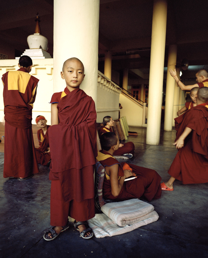 Young monks debate at the Namgyal monastery in Dharamsala.