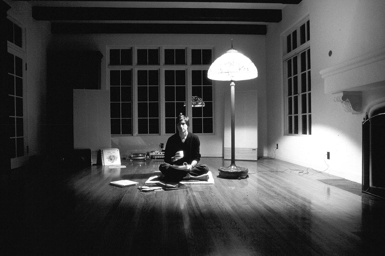 Jobs sits in his Woodside, Calif., home in 1982.