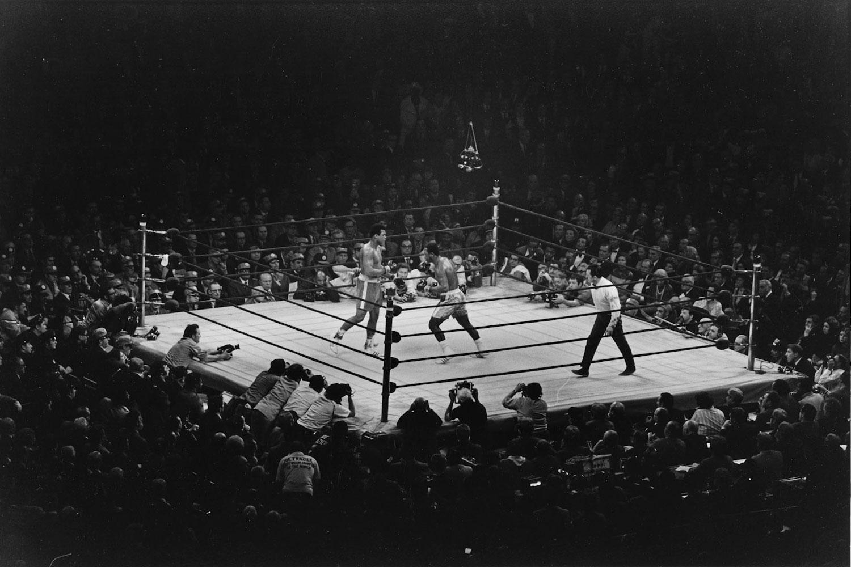 Muhammad Ali and Joe Frazier, New York City, USA, 1971.