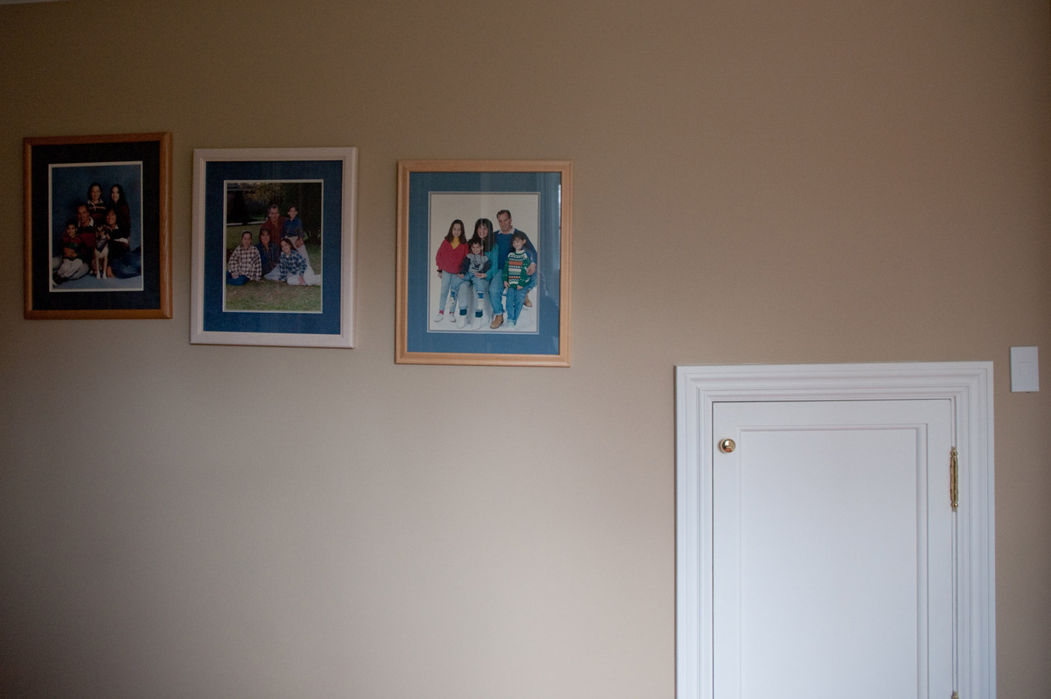 Family photographs and mementos line the walls and countertops of the Borowick household in New York, May 2010.