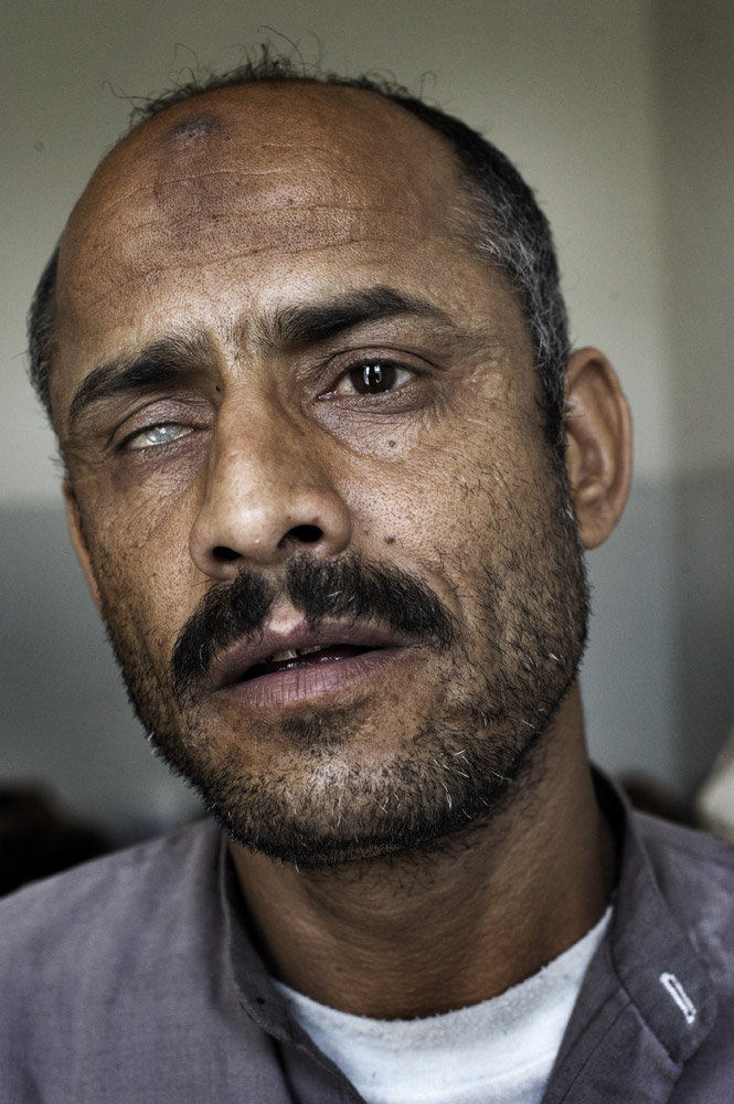I am ready to sacrifice to bring the change,  said Saleh Ali Ahmed, 40, who was shot by security forces.