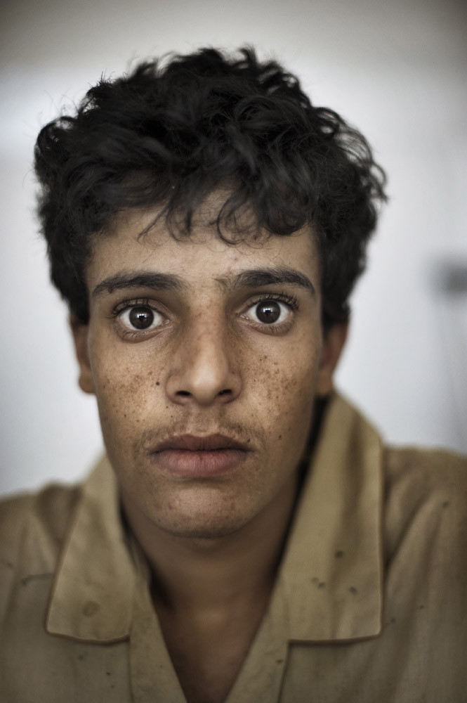 Tariq Naji, 18, recently wounded during protests in Sana'a.