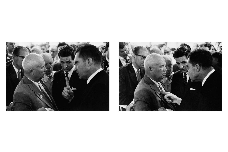 Nikita Khrushchev and Richard Nixon, Moscow, USSR, 1959.