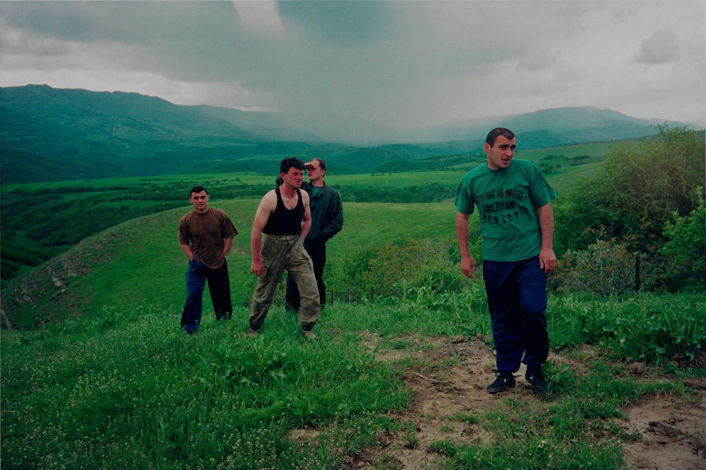 Avto and friends in the Causasian mountains, Georgia, 1993