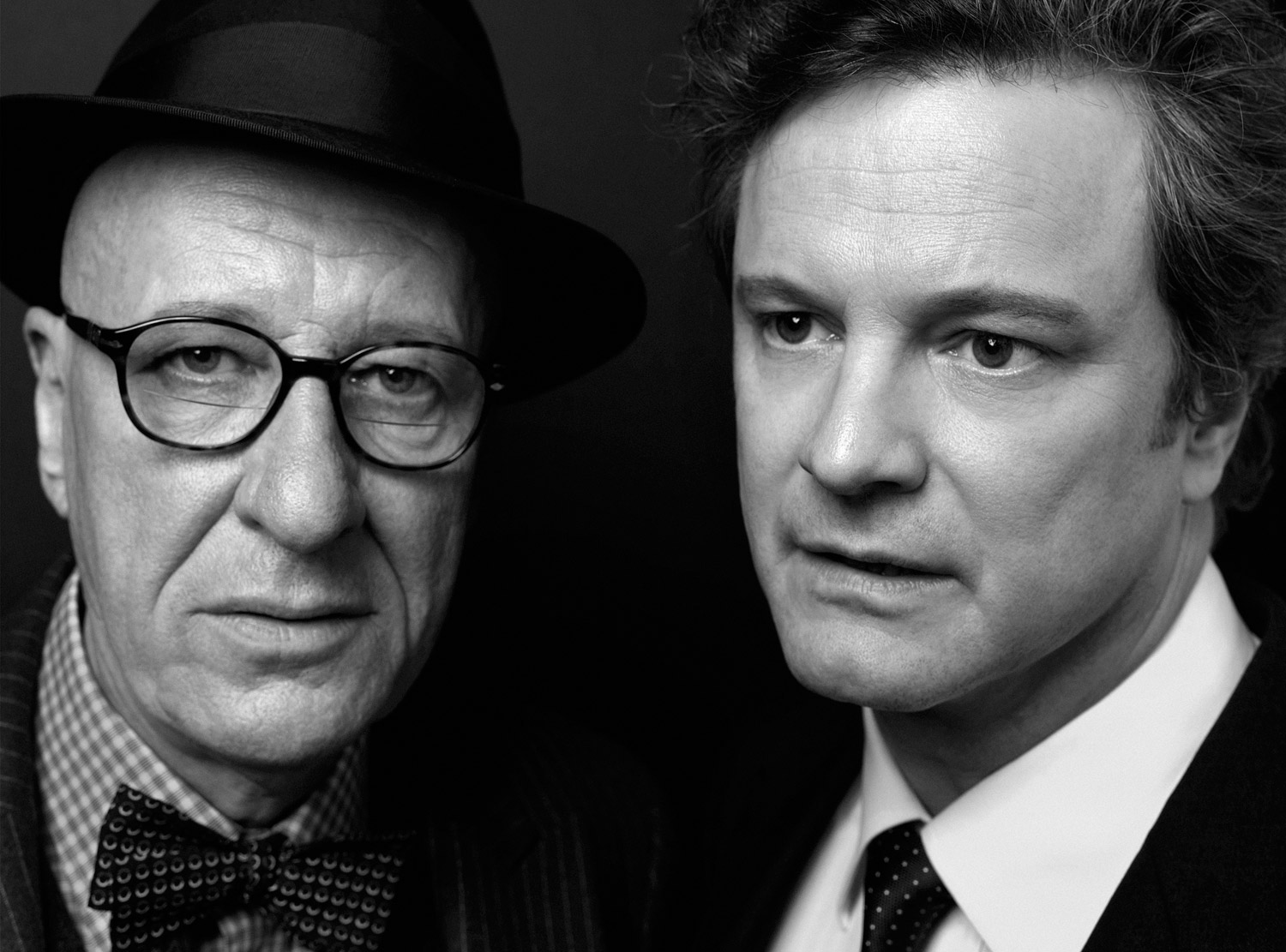 Geoffrey Rush and Colin Firth, actors. From  Great Performances,  Feb. 21, 2011, issue.