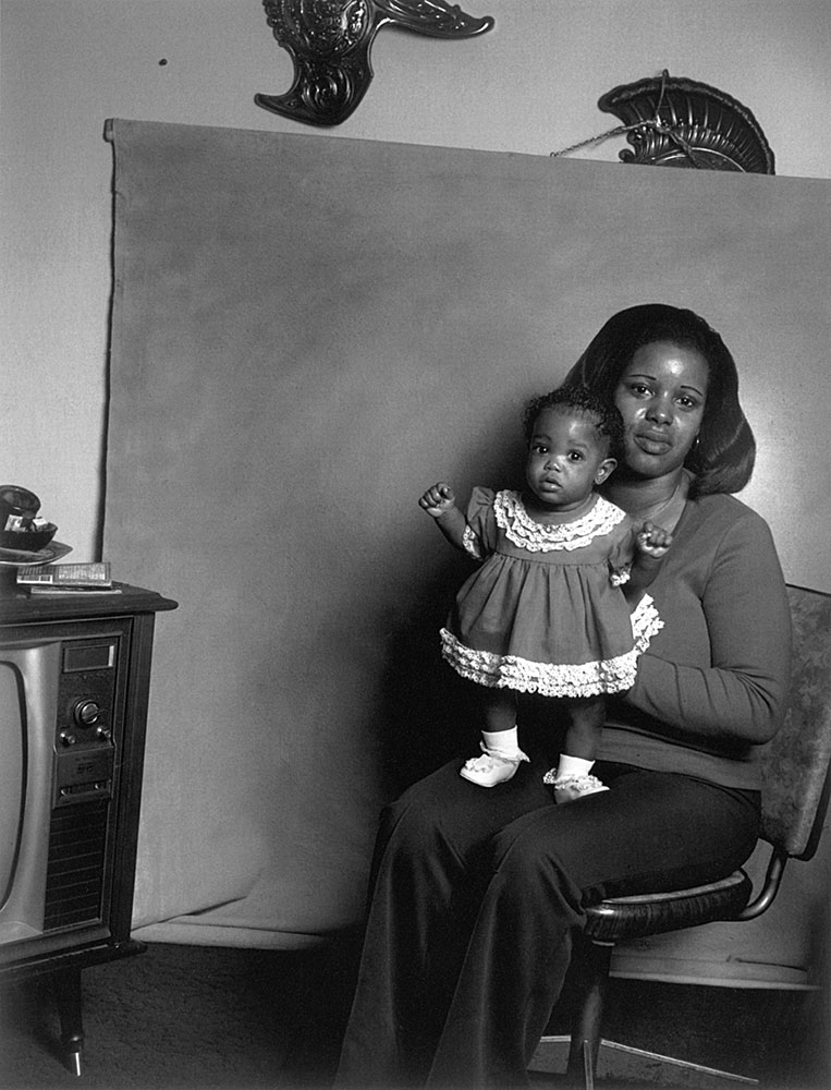 Black Mother with Baby Girl                                San Pablo, California