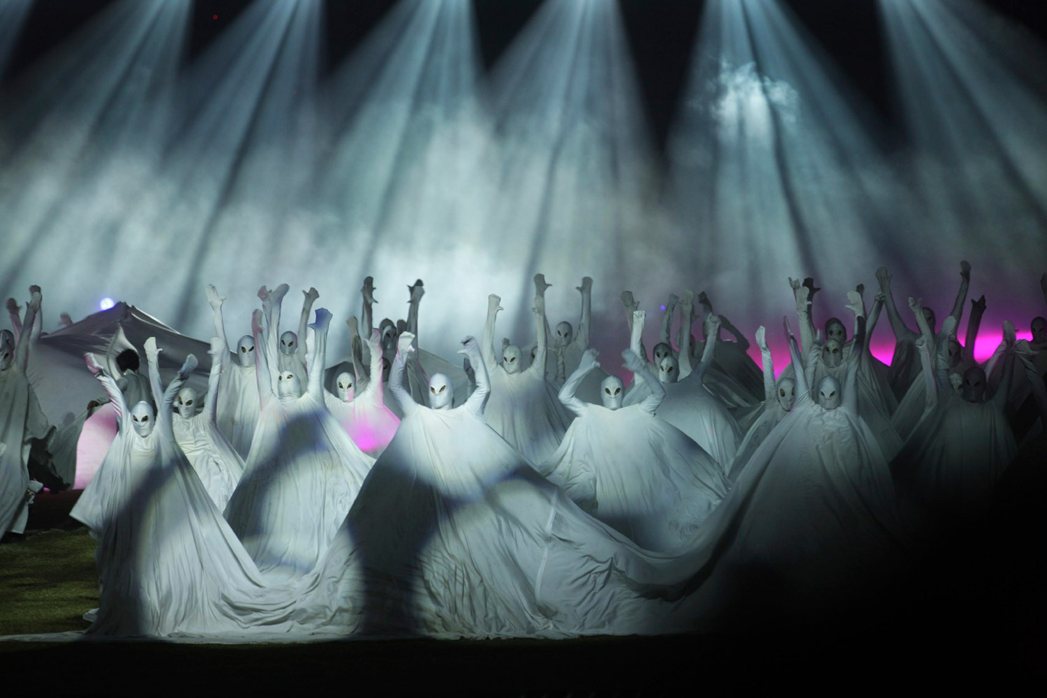 November 20, 2011. Artists perform during the closing ceremony of the Kabaddi World Cup in the Indian city of Ludhiana. The event has been marred this year by evidence of rampant use of performance-enhancing drugs, resulting in more than 30 positive drug tests.