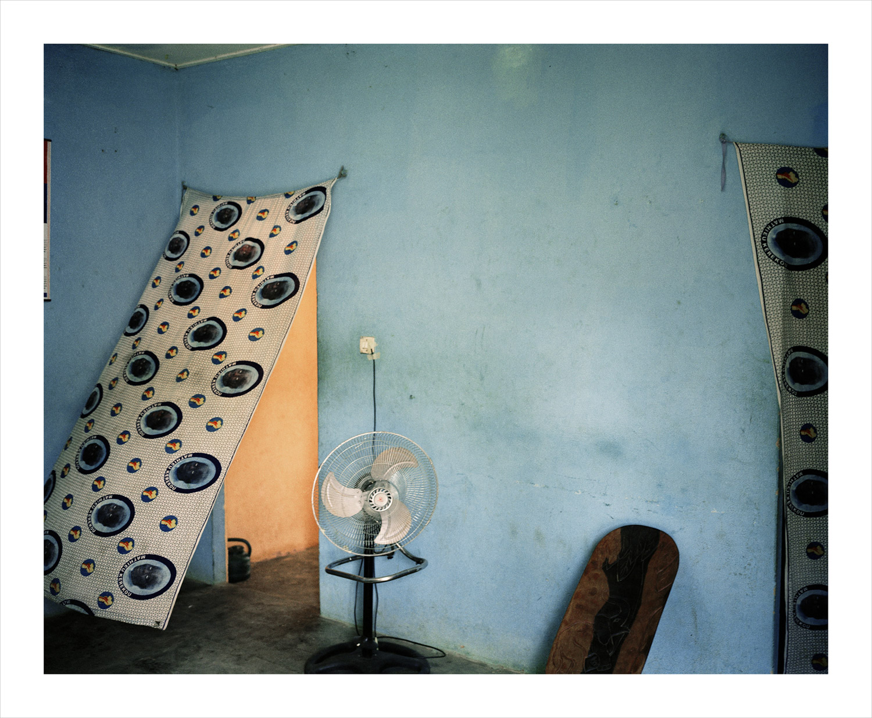 Blue wall#1, from Moi, Un Blanc series, Mali, 2010