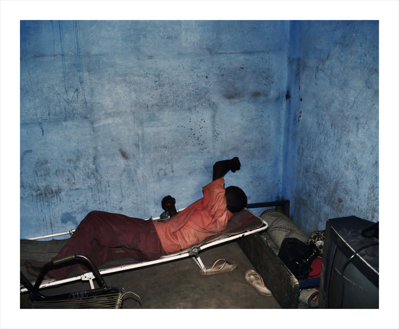 Blue wall#2, from Moi, Un Blanc series, Mali, 2010