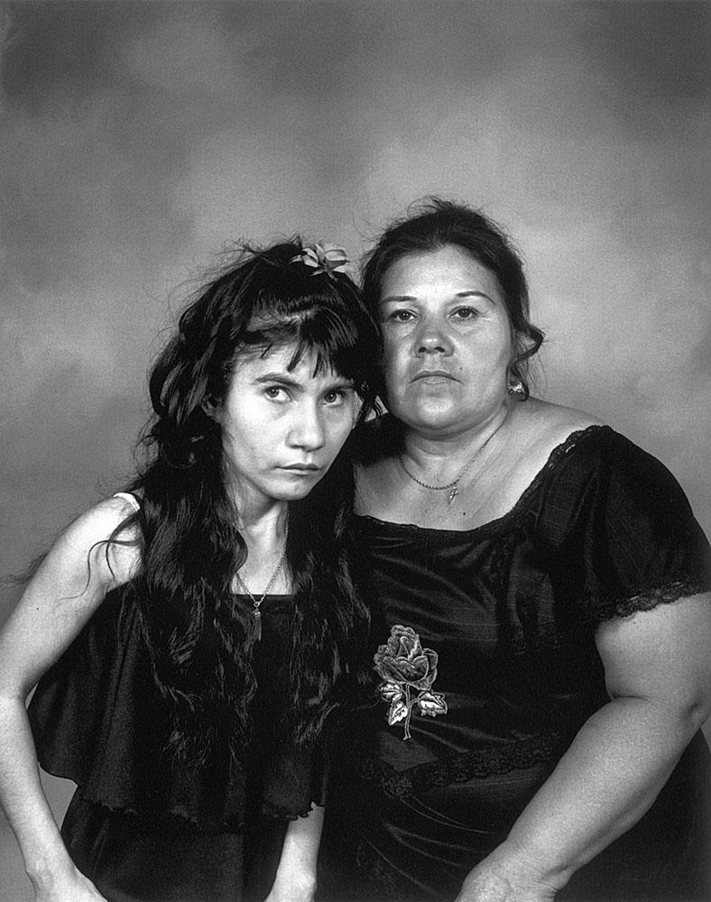 Mother and Daughter in Black Dresses                                Santa Rosa, California