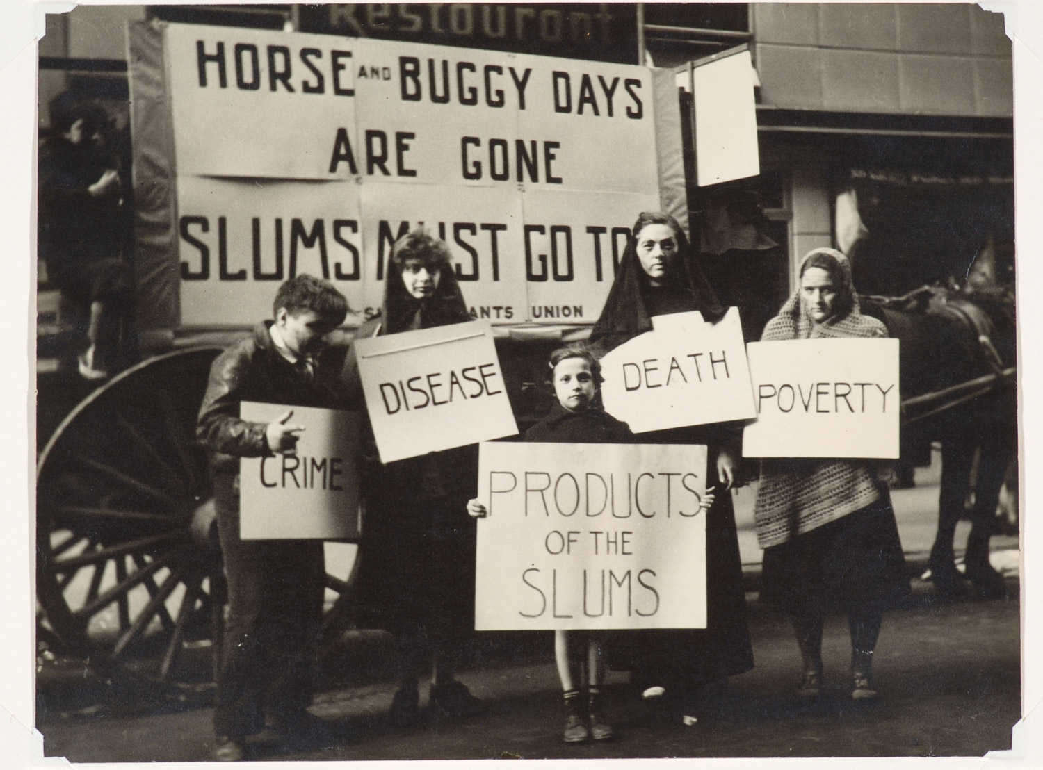 Slums Must Go! May Day Parade, New York, 1936