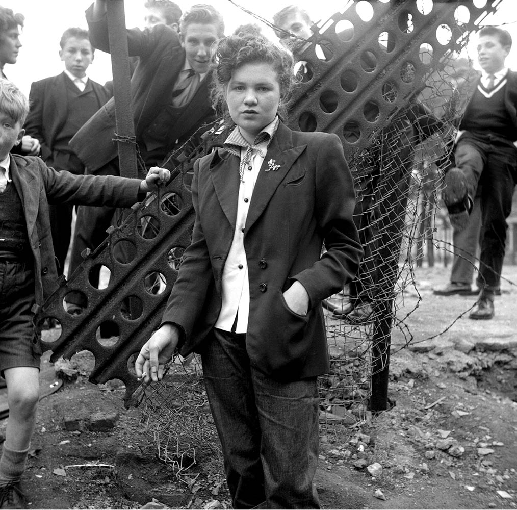 The following images are from Ken Russell's January 1955 series The Last of the Teddy Girls                                 14-year-old Jean Rayner in the exploratory stage of Teddyism.