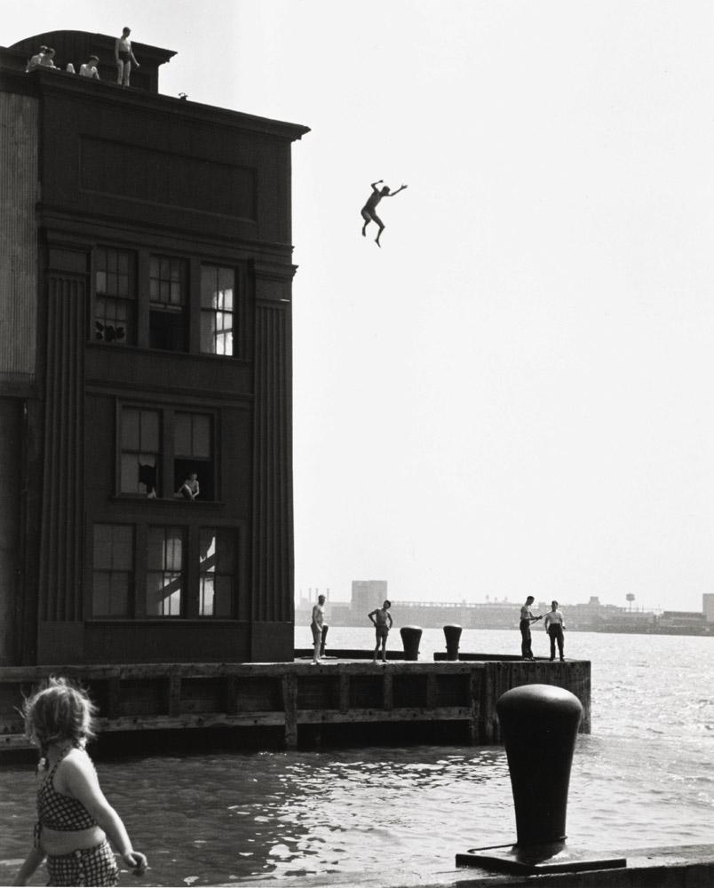 Boy Jumping into Hudson River, 1948