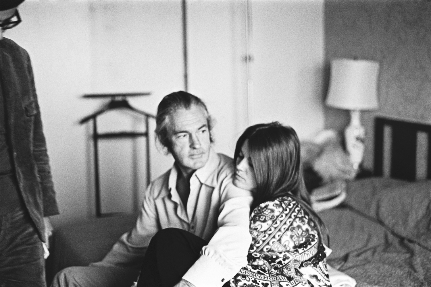 Timothy Leary and his wife Rosemary in room 1742 at the hotel.