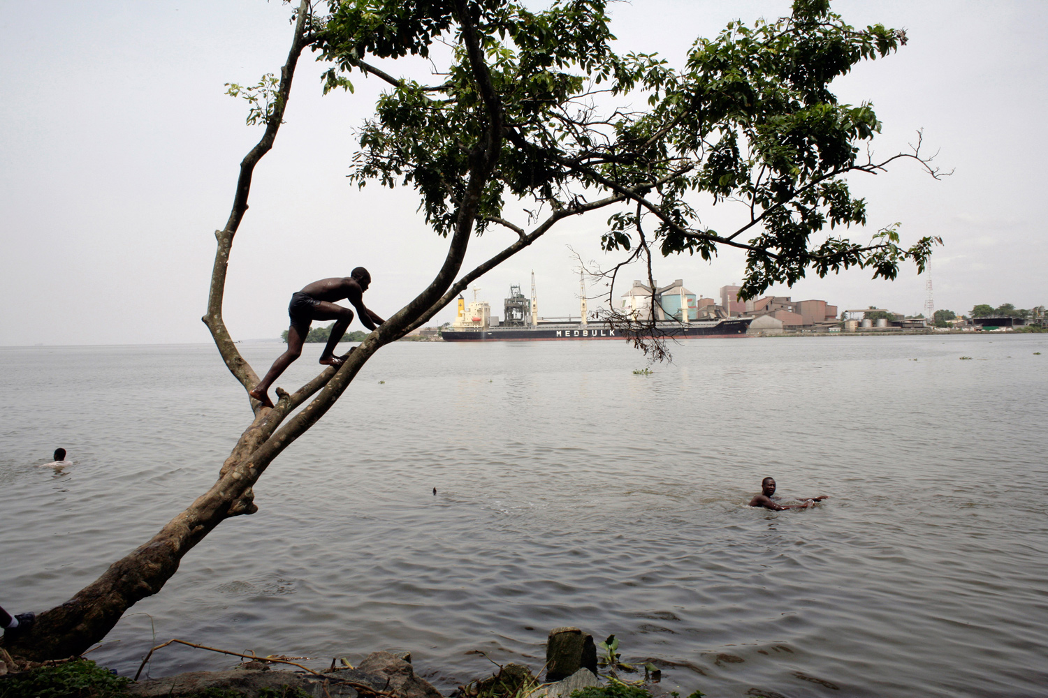 April 10, 2011. On the Wouri River banks in Douala, Cameroon.
