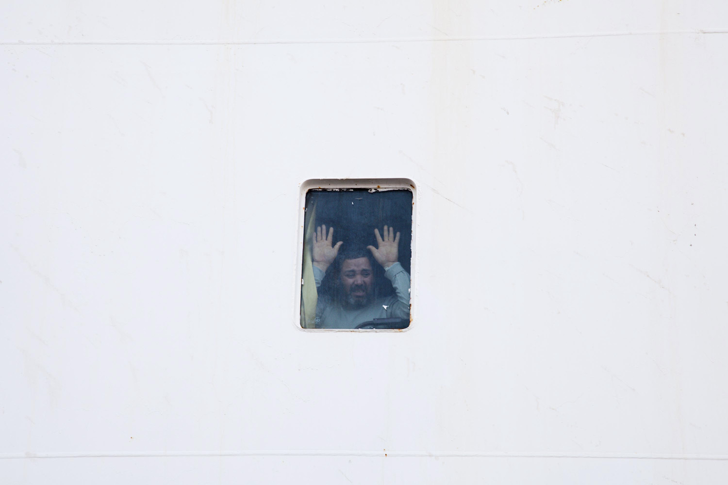 April 3, 2011. The Turkish boat, the Ankara, brings wounded Libyans from the cities of Misrata and Benghazi to Turkey.