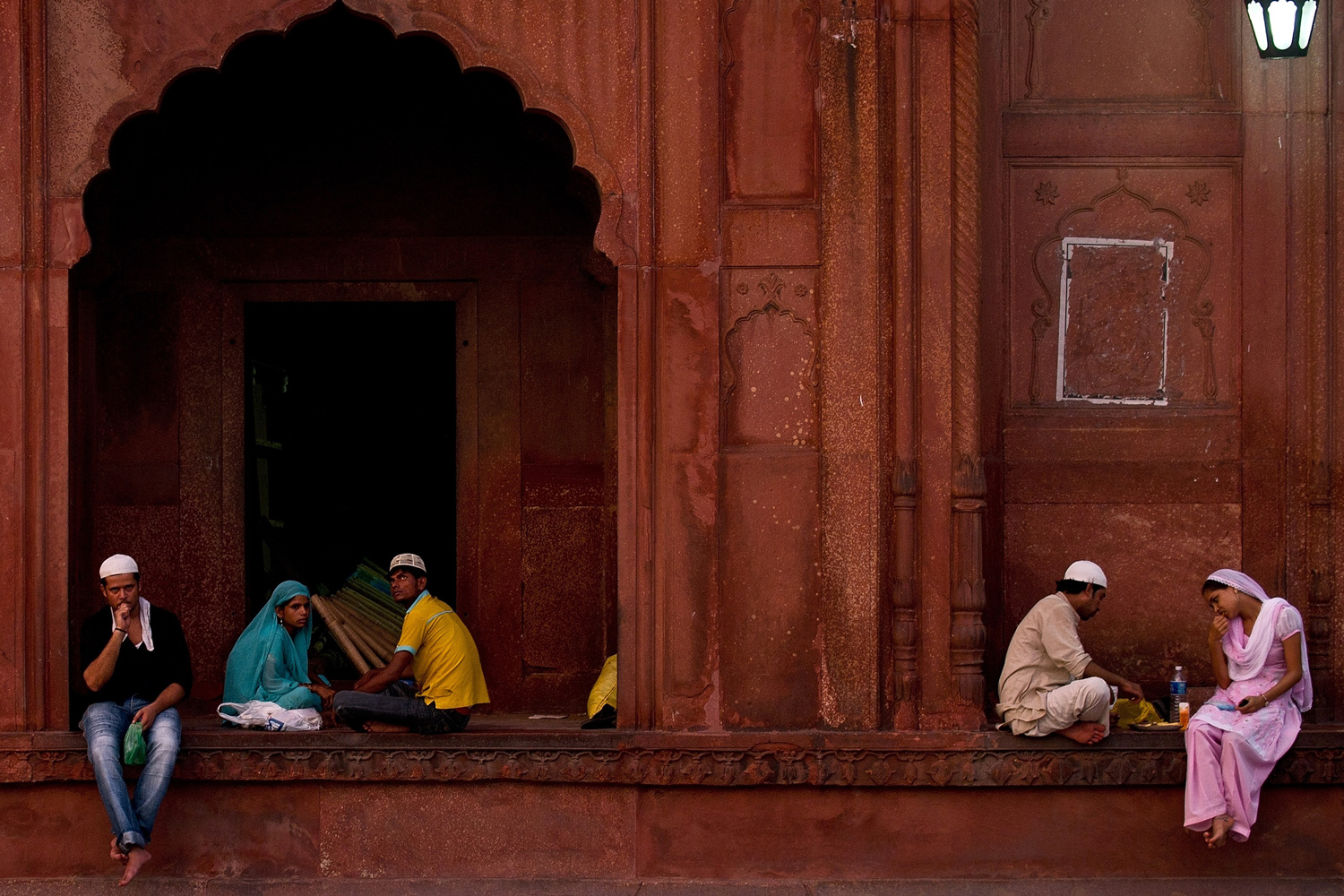 August 2, 2011. Indian Muslims break their fast at the Jama Masjid Mosque on the first day of the holy month of Ramadan in New Delhi.