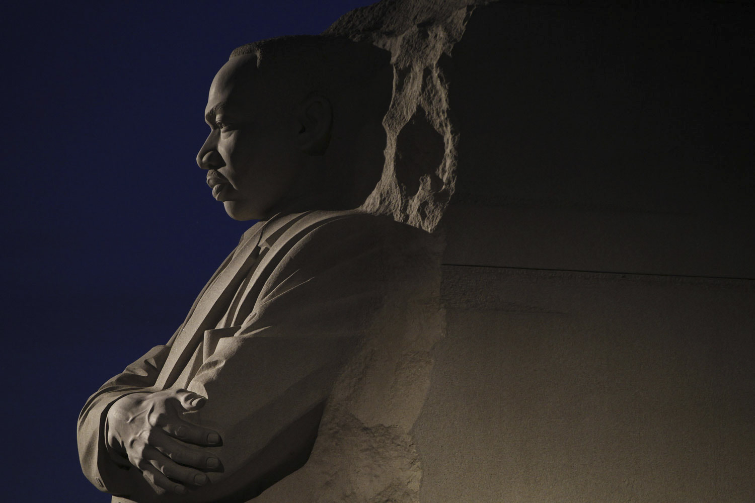 August 22, 2011. The Martin Luther King Jr. memorial on the National Mall in Washington.
