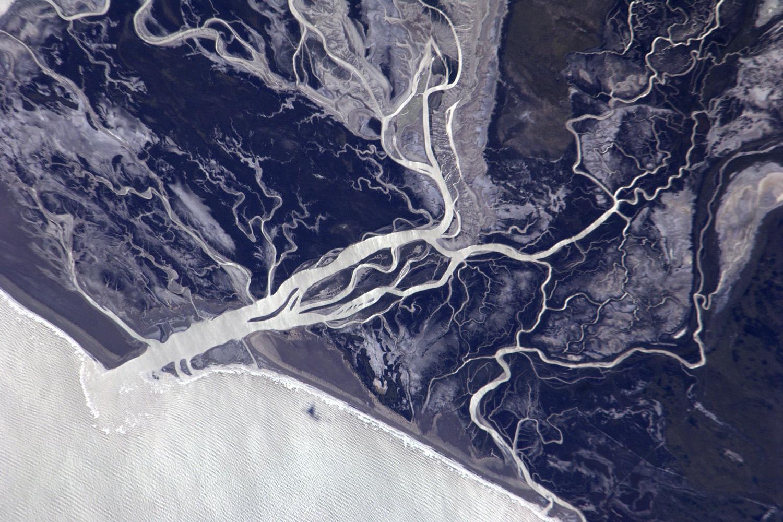 February 14, 2011. A view of Bahia Anegada, Argentina.