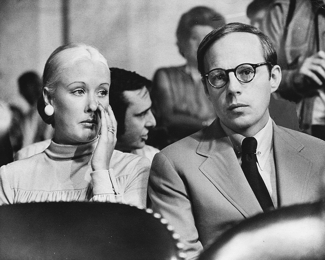 James Atherton's photograph of former presidential aide John Dean III as he waits to testify before the Senate Committee investigating Watergate, where he claimed that Nixon participated in the cover-up, Washington, D.C., June 25, 1973.