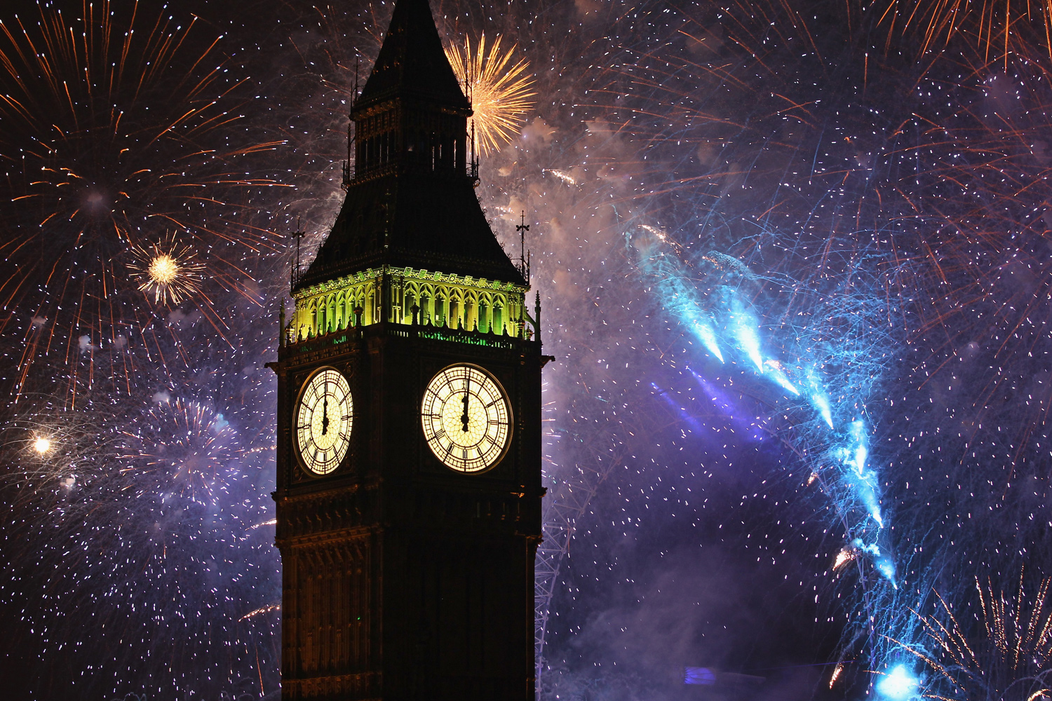 January 1, 2011. Fireworks light up the London skyline and Big Ben just after midnight in England. Thousands of people lined the banks of the River Thames in central London to see in the New Year with a spectacular fireworks display.