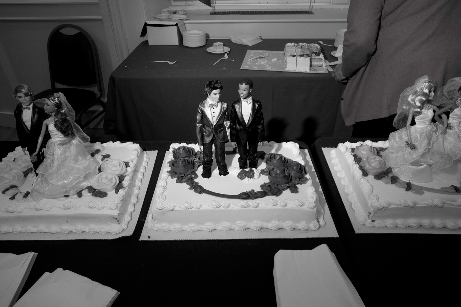 July 23, 2011. Wedding cake at Brooklyn Borough Hall on the first day Gay Marriage became legal in New York.