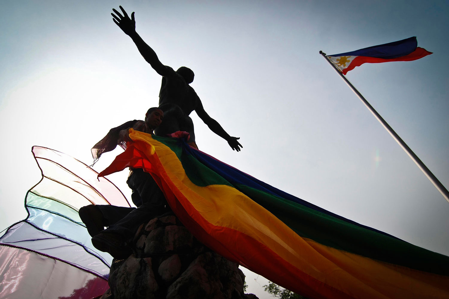 June 28, 2011. Students from the University of the Philippines in Manila march to protest an increase in hate crimes against lesbian, gay, bisexual and transgender (LGBT) people.